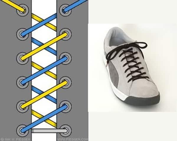 Hình 2 - Biến tấu một chút từ kiểu buộc dây giày xương cá bạn sẽ có cách mới