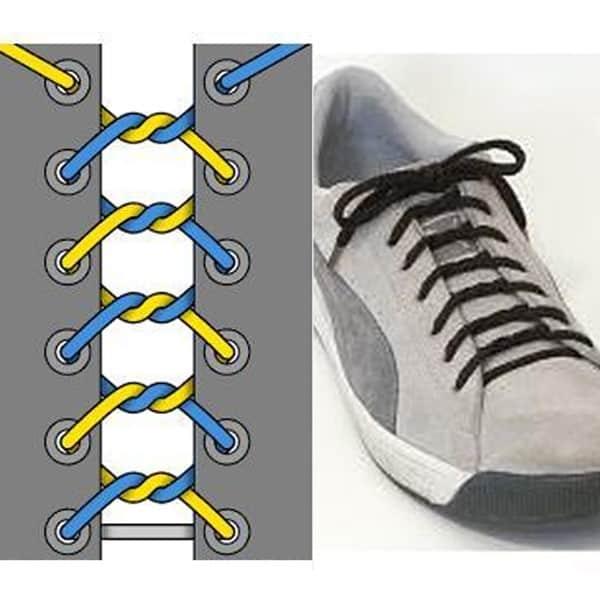 Hình 5 - Đừng bỏ qua cách cột giày sneaker kiểu xoắn