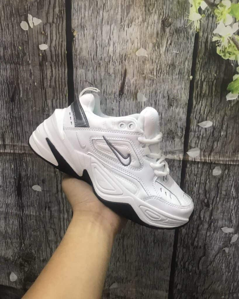 Giày thể thao chunky Nike M2K trăng đen cá tính và thanh lịch