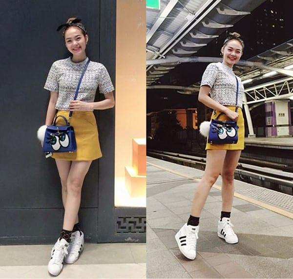 Phối Adidas Superstar với outfit trẻ trung và đáng yêu