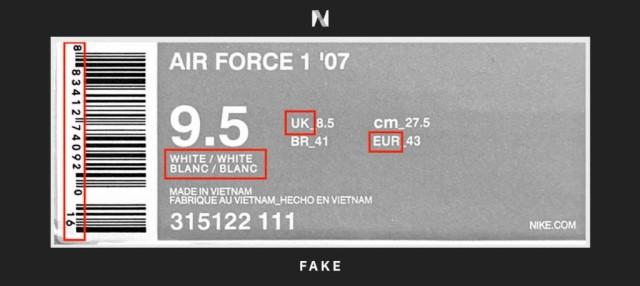 Check mã vạch để kiểm tra giày Nike thật và giả