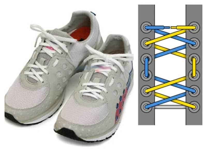 Cách buộc dây giày nữ đẹp có lỗ hở giúp bàn chân luôn thoải mái khi vận động