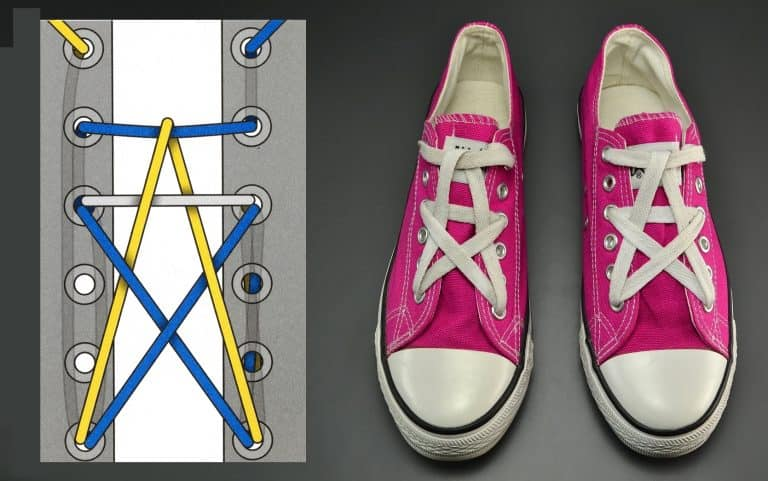 Đôi giày trở nên hoàn hảo với cách buộc giày hình ngôi sao