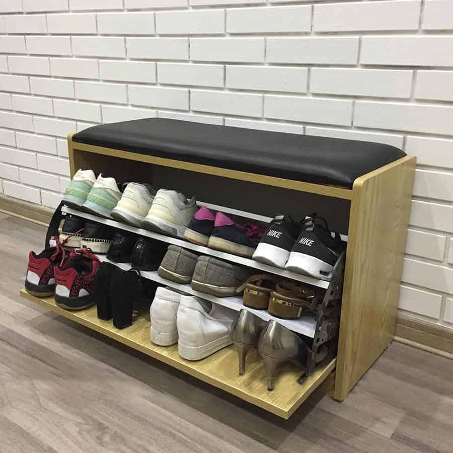 Tủ giày thông minh cánh lật được nhiều gia đình lựa chọn