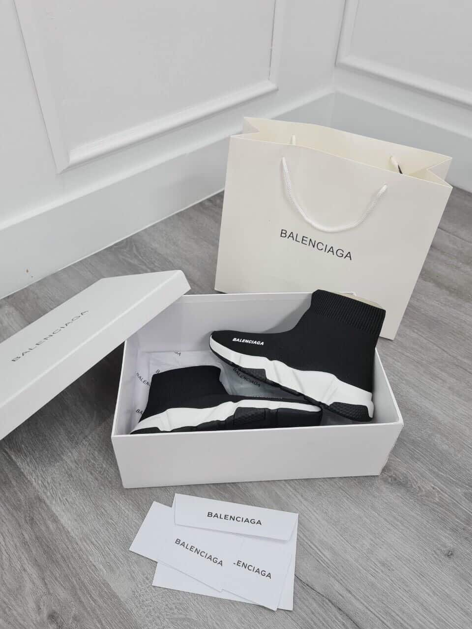 Giày thể thao nữ cao cổ Balenciaga Speed rep 1:1