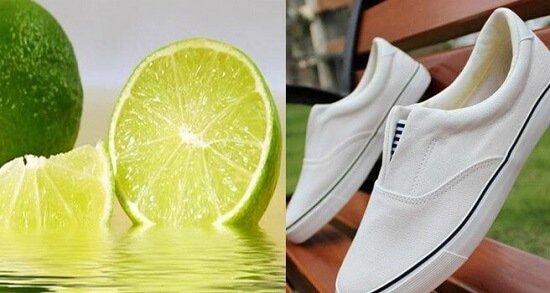 Chanh tươi giúp tẩy làm sạch đế giày trắng cực nhanh