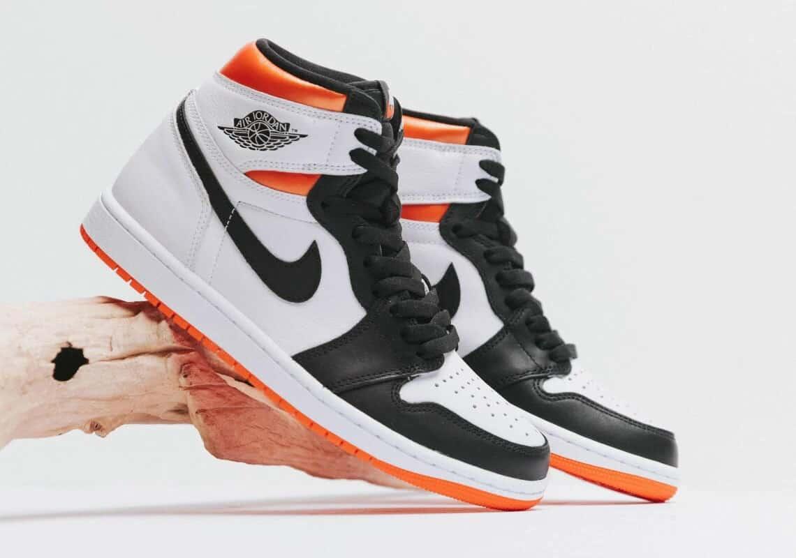 Giày thể thao nam cao cổ Jordan 1 High Trắng Cam đen rep 1:1