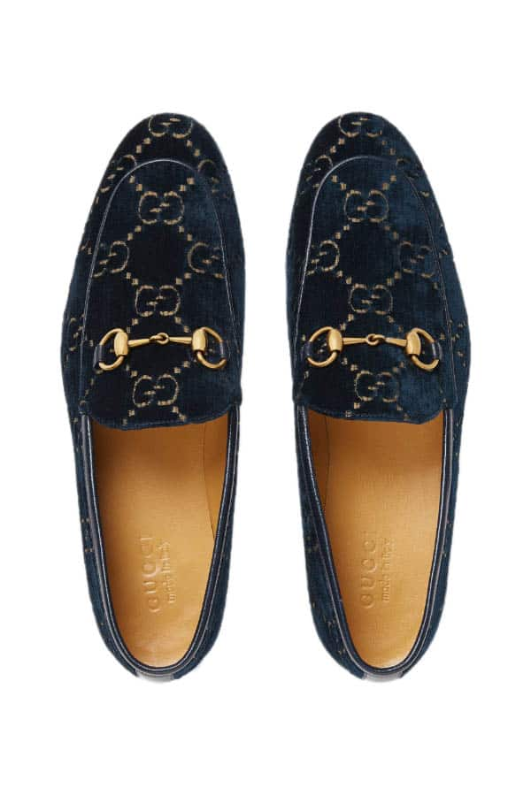 Chất nhung hoàn hảo của Gucci Men Jordaan GG Velvet Loafer