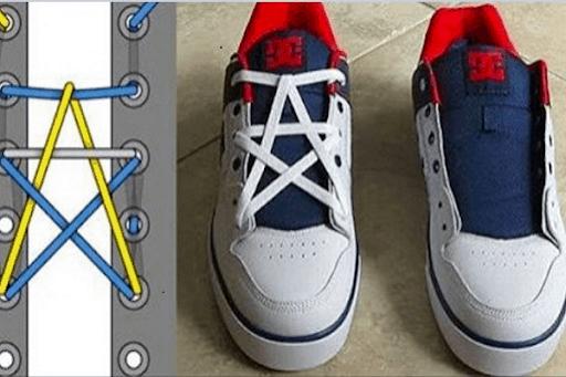 Tạo hình dây giày thành ngôi sao