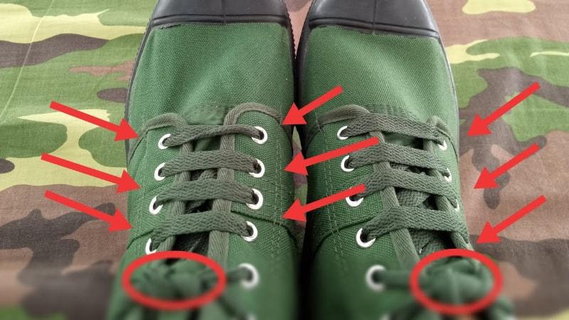 Cách thắt dây giày kiểu quân đội đơn giản