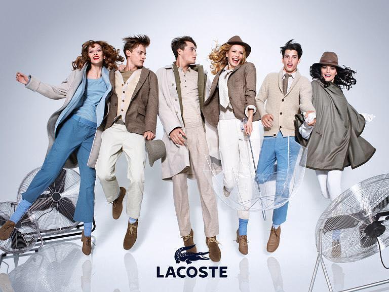 Lacoste là thương hiệu thời trang nổi tiếng với logo cá sấu