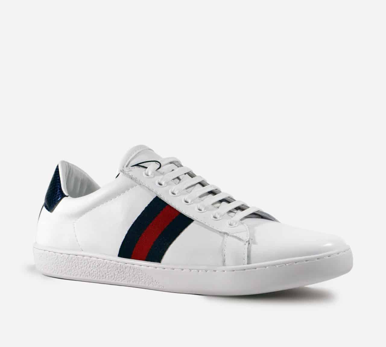 Giày Gucci Ace Trắng là phiên bản đầu tiên với phong cách tối giản, sang trọng