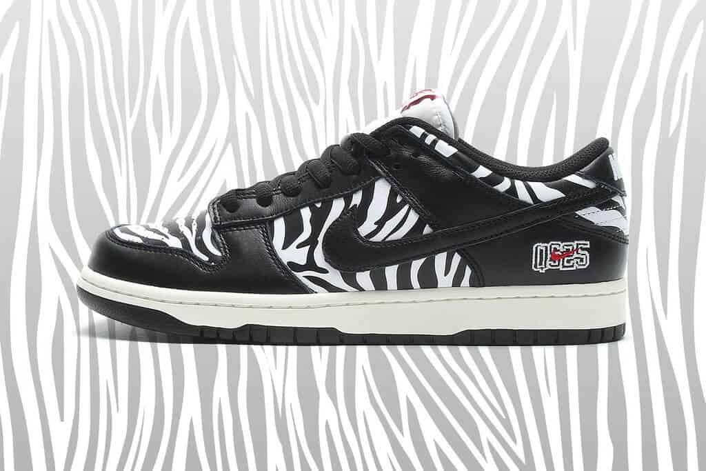 Nike SB Dunk Low Quartersnacks Đôi giày có vẻ cổ điển theo phong cách trượt ván