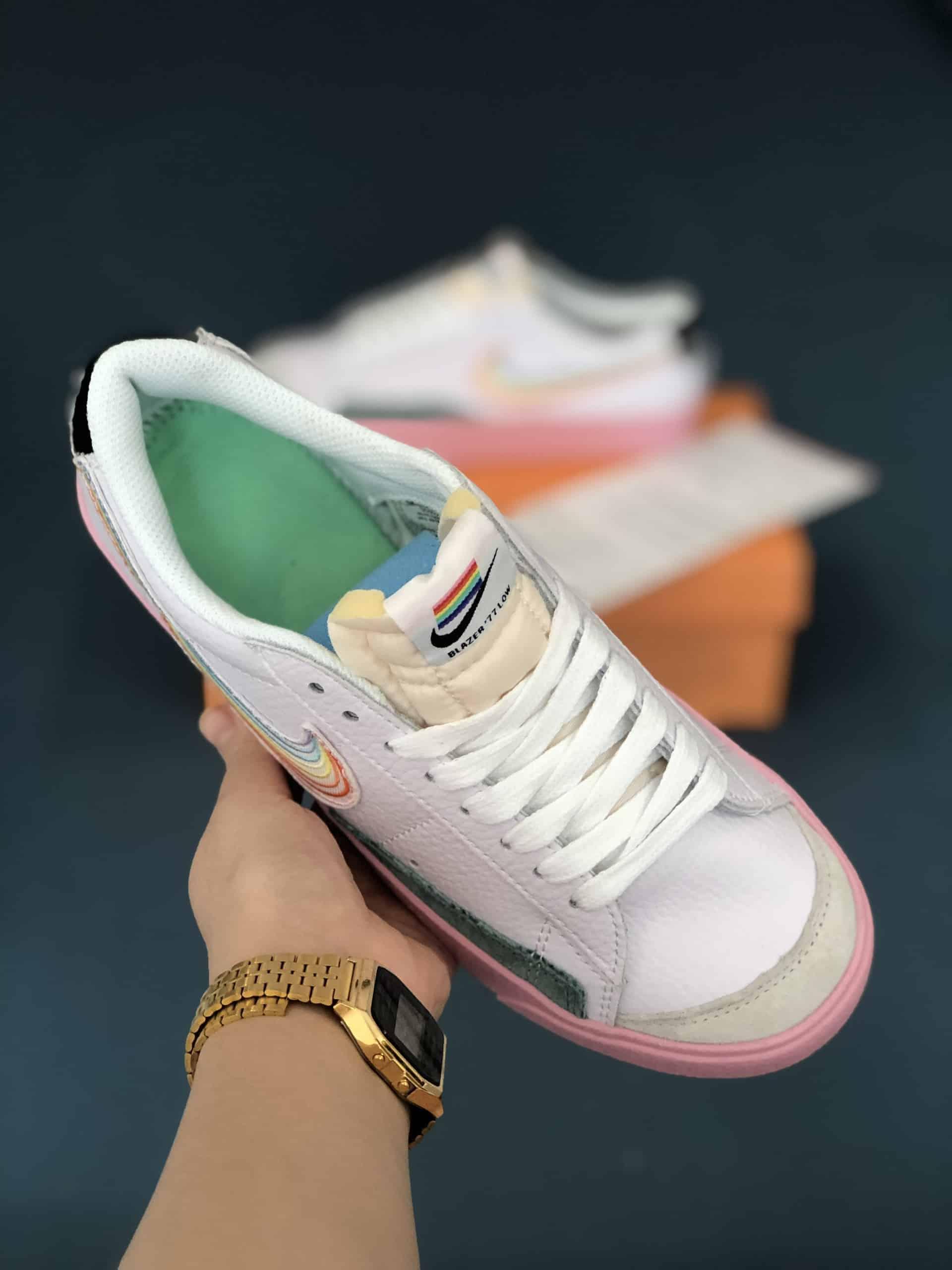 Nike Blazer Low 77 Hồng Rep 1:1 có thiết kế thời thượng