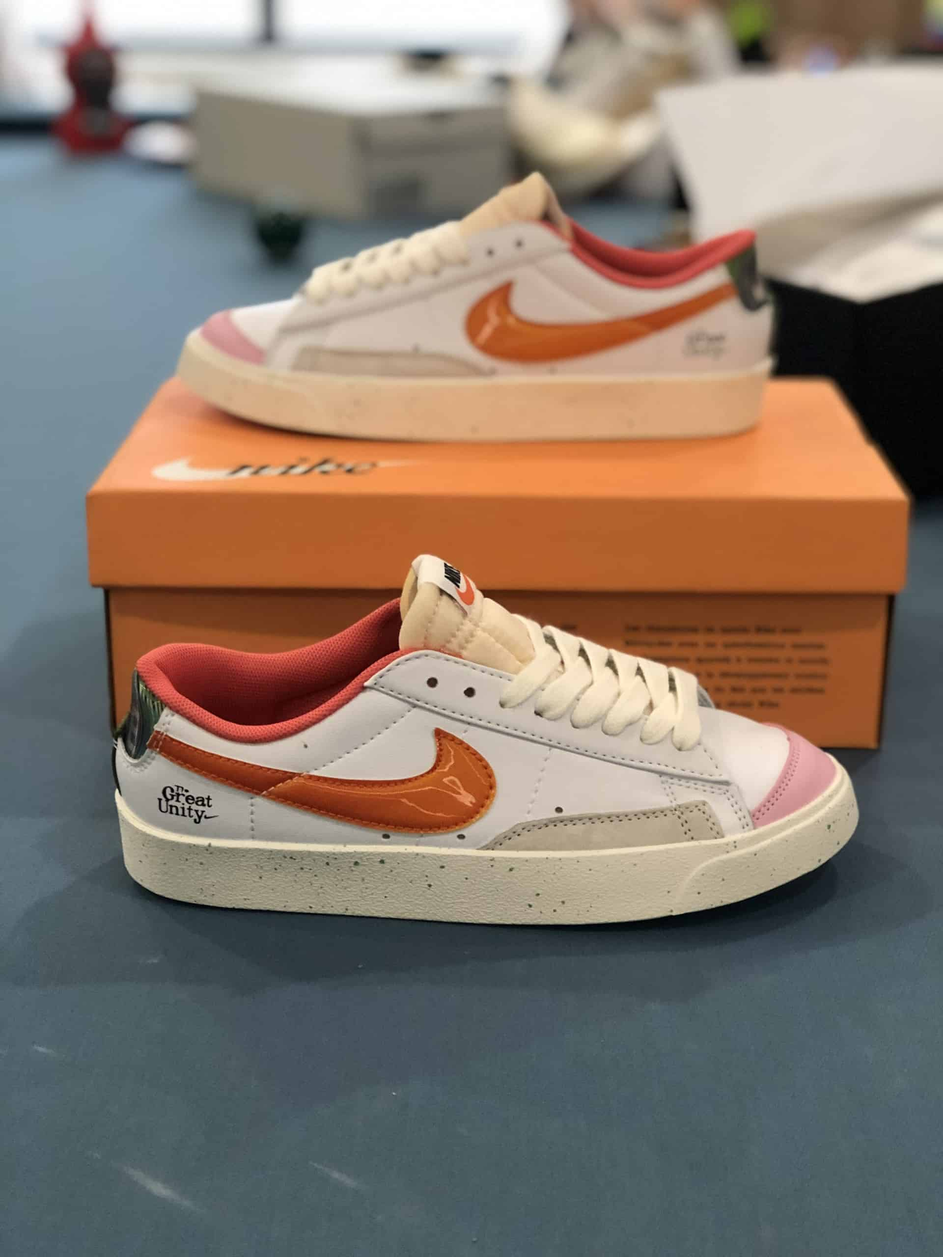 Nike Blazer Low 77 White Orange Rep 1:1 giúp bạn tự tin khoe cá tính của mình