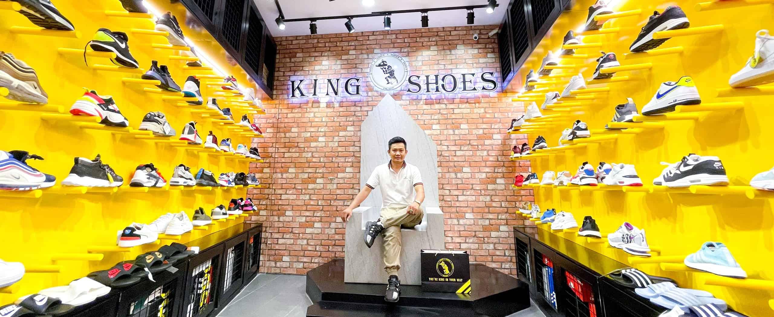 Bố trí không gian tươi trẻ của King Shoes - Shop giày Adidas chính hãng TPHCM lớn