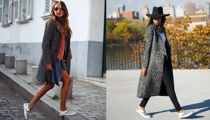 Thời trang high-fashion luôn phối đồ với giày Vans caro lười